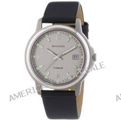Shaon Herren-Armbanduhr XL Analog Quarz Leder 53-6016-84