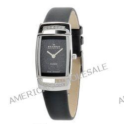 Skagen Damen-Armbanduhr Skagen Stainless Steel Black Label Analog Leder Schwarz 985SSLBN