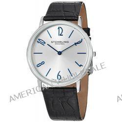 Stuhrling Original Herren 140.33152 Classic Ascot II Swiss Quartz Slim Silver Dial Uhr Biżuteria i Zegarki