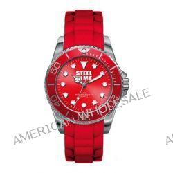 Steel Time Damen-Armbanduhr Originale Analog Quarz Rot STF006 Biżuteria i Zegarki