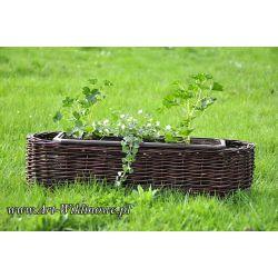 donica ogrodowa osłonka na kwiaty z wikliny 100 cm