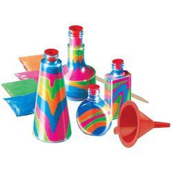 Kolorowy PIASEK kreatywna komplet 15 elem EDUCORE