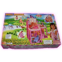 Domek dla lalek Barbie mebelki 120el zamek EduCORE
