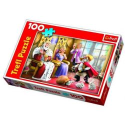 kot w butach  puzzle 100 element 16174 TREFL