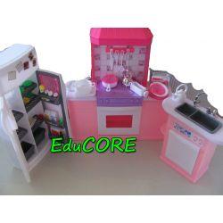 KUCHNIA LUX mebelki lalka Barbie EE413 EduCORE