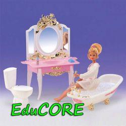 ŁAZIENKA GOLD mebelki lalka Barbie CHH2316 EduCORE