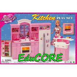 KUCHNIA DUŻA mebelki lalka Barbie 24016 EduCORE