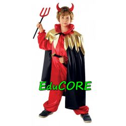 DIABEŁ Halloween karnawał kostium 122/128 EduCORE