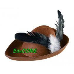 ROBIN HOOD kapelusz brąz piórko kostium EduCORE Kostiumy męskie
