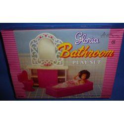 ŁAZIENKA mebelki lalka Barbie WANNA toaletka e181