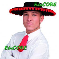 HISZPAN kapelusz z pomponami kostium cc214 EduCORE