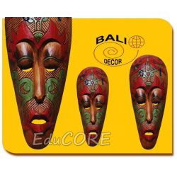 MASKA rzeźba etniczna Afryka 50cm E90545 EduCORE Antyki i Sztuka