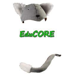 Kot kotek puchaty czapka ogonek kostium EduCORE