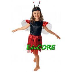 BIEDRONKA Kropeczka kostium strój 122/128 EduCORE