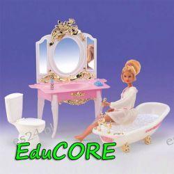 ŁAZIENKA GOLD mebelki lalka Barbie ee148 EduCORE