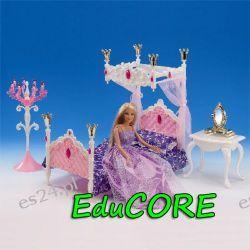 SYPIALNIA KRÓLEWSKA mebelki Barbie ee236 EduCORE