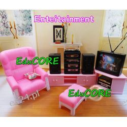 SALON RELAKS TV mebelki lalka Barbie e147 EduCORE