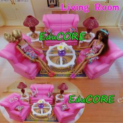 SALON Living mebelki lalka Barbie e586 EduCORE