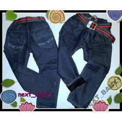 -40%-BOY JEANS Spodnie ociepl.110(4l)+pasek