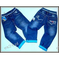 *NOWOŚĆ* WYŚCIGÓWKA Spodnie jeans 110/116(6)