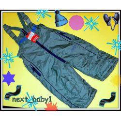 Spodnie ociepl. do Kombinezonu 86/92(18M)zielony