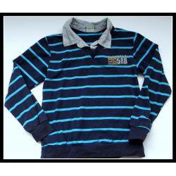 Bluzka polo w paski r134(10/11L)12 używana Rozmiar 134