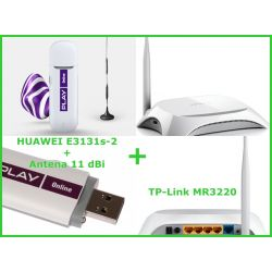 TP-Link MR3220 2.2 +MODEM E3131 AERO2+ANTENA FV23%
