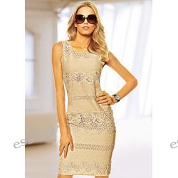 Sukienka tkanina z dużym udziałem lnu