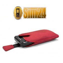 Etui na telefony Milano S8600 Wave 3 - czerwone