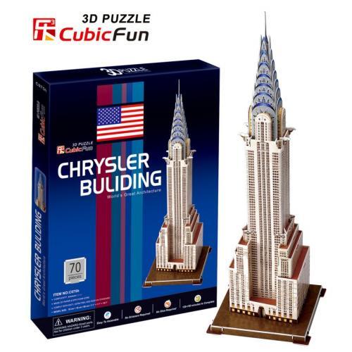 WIEŻOWIEC CHRYSLER -  PUZZLE 3D CubicFun