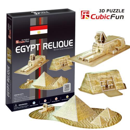 BUDOWLE EGIPSKIE - PUZZLE 3D CubicFun