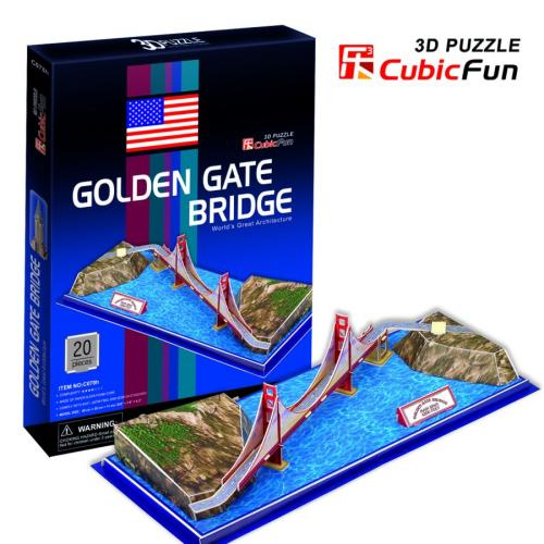 GOLDEN GATE - PUZZLE 3D CubicFun