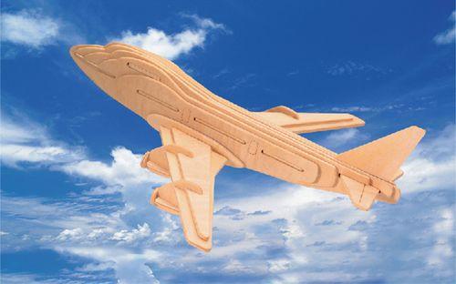 BOEING 747 - DREWNIANE PUZZLE 3D