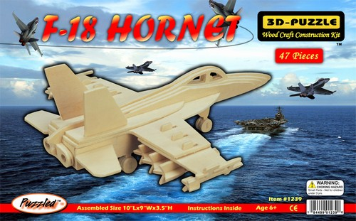 F 18 HORNET - DREWNIANE PUZZLE 3D