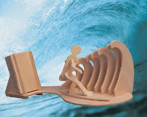PIÓRNIK SURFING -DREWNIANE PUZZLE 3D