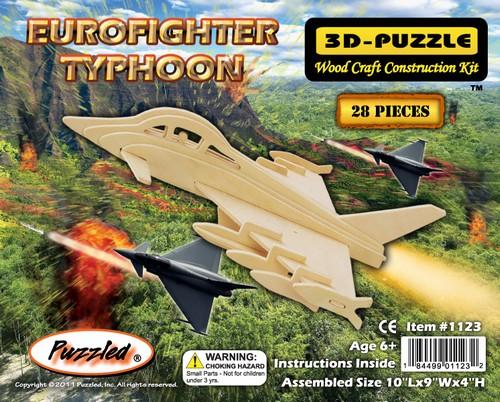 EUROFIGHTER TYPHOON - DREWNIANE PUZZLE PRZESTRZENNE 3D