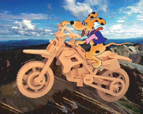 MOTOR CROSSOWY -DREWNIANE PUZZLE PRZESTRZENNE 3D