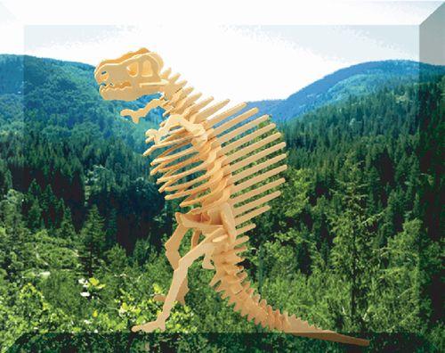 SPINOSAURUS DINOZAURY -DREWNIANE PUZZLE  3D