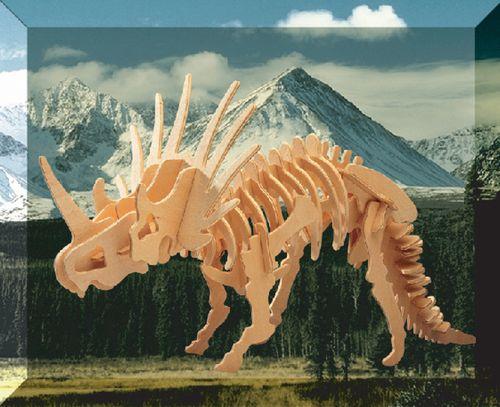 STYRACOSAURUS DINOZAURY -DREWNIANE PUZZLE  3D