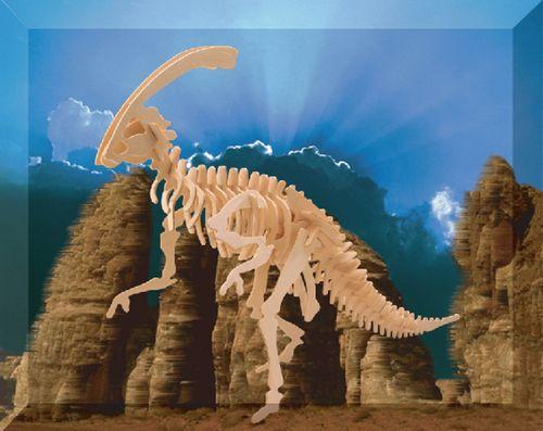 PARASAUROLOPHUS DINOZAURY -PUZZLE  DREWNIANE 3D