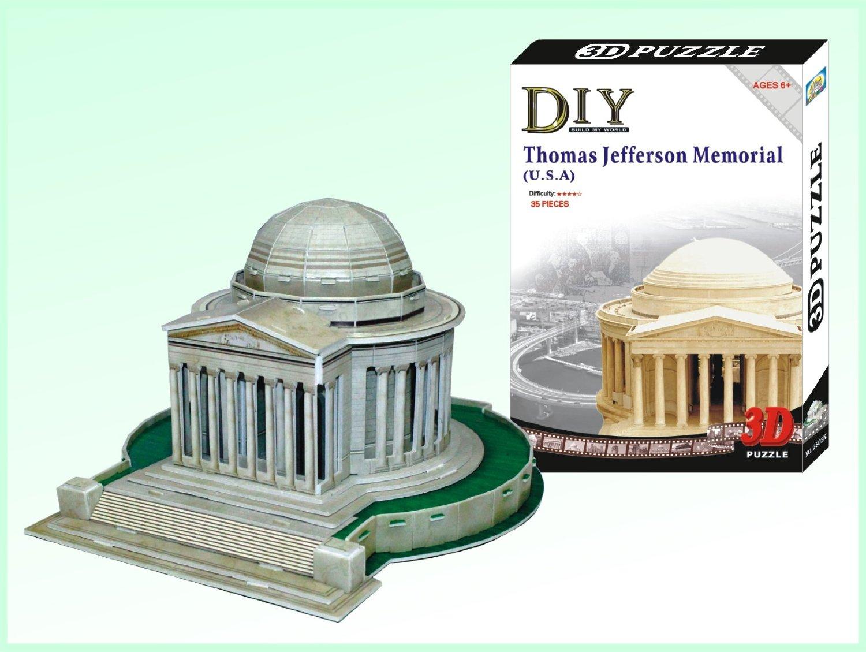 JEFFERSON MEMORIAL - PUZZLE 3D Calebou