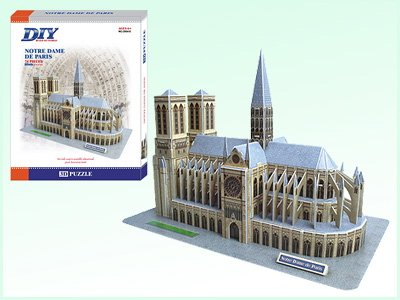 Katedra NOTRE DAME - PUZZLE 3D Calebou