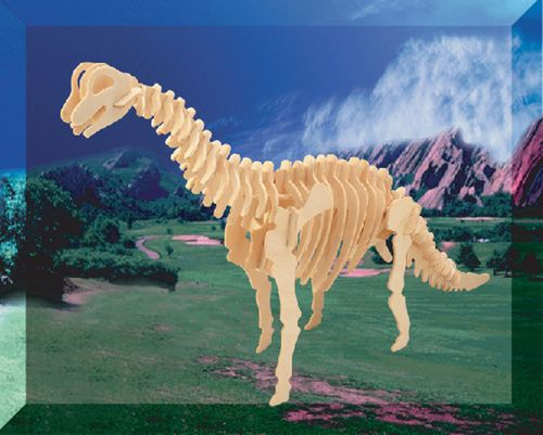 BRACHIOSAURUS DINOZAURY -DREWNIANE PUZZLE 3D