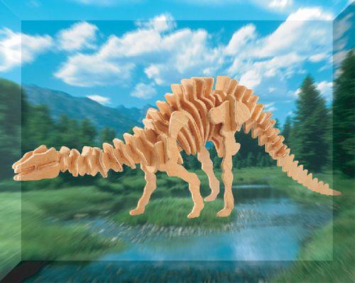 APATOSAURUS DINOZAURY -DREWNIANE PUZZLE 3D