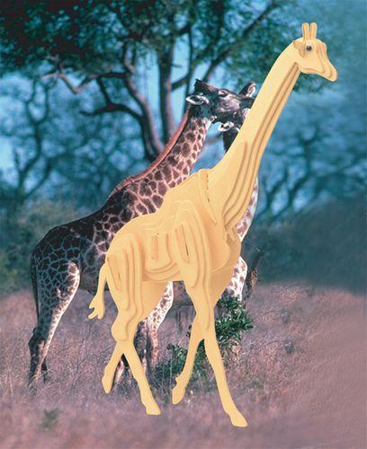 ŻYRAFA - DREWNIANE PUZZLE  3D