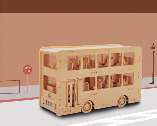 AUTOBUS PIĘTROWY -  PUZZLE  PRZESTRZENNE 3D