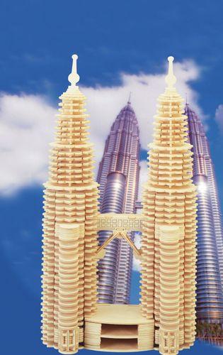 PETRONAS TOWERS-  PUZZLE  PRZESTRZENNE 3D