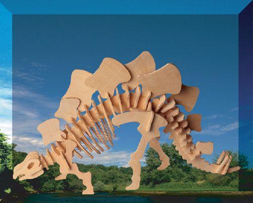 STEGOSAURUS DINOZAURY -DREWNIANE PUZZLE 3D