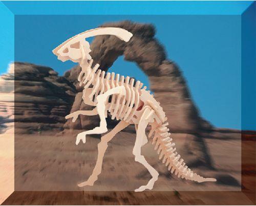 MAŁY PARASAUROLOPHUS DINOZAURY -DREWNIANE PUZZLE 3D