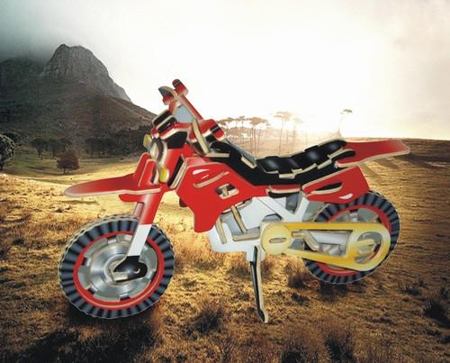 MOTOR CROSSOWY -KOLOROWE PUZZLE PRZESTRZENNE 3D